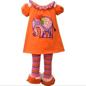 Bonnie Jean Elephant tunic leggings set new NWT